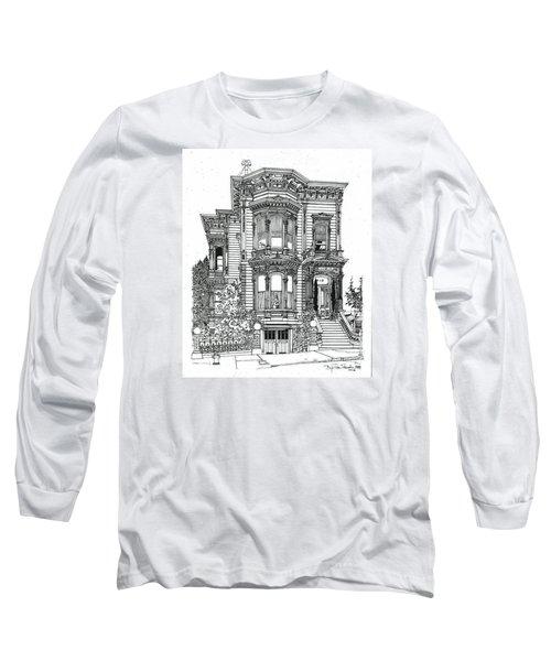 San Francisco Victorian   Long Sleeve T-Shirt by Ira Shander