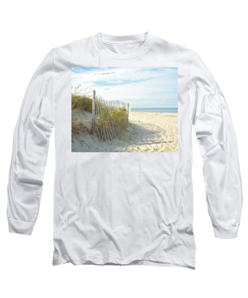 Long Sleeve T-Shirt featuring the photograph Sand Beach Ocean And Dunes by Brooke T Ryan