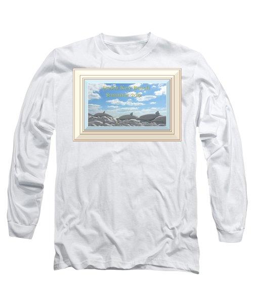 Sand Dolphins - Digitally Framed Long Sleeve T-Shirt