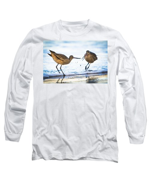 Sanderlings Playing At The Beach Long Sleeve T-Shirt
