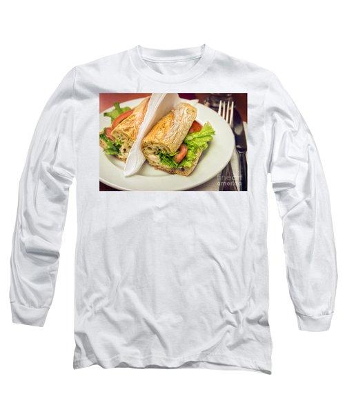 Sandwish On Table Long Sleeve T-Shirt by Carlos Caetano