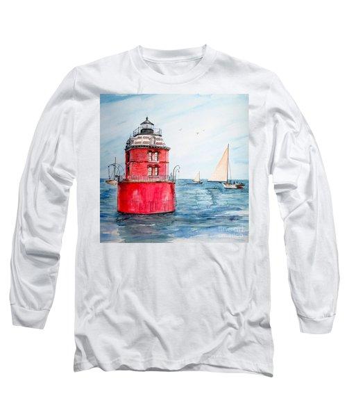 Sandy Point Lighthouse 2 Long Sleeve T-Shirt