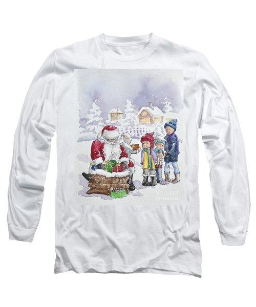 Santa And Children Long Sleeve T-Shirt