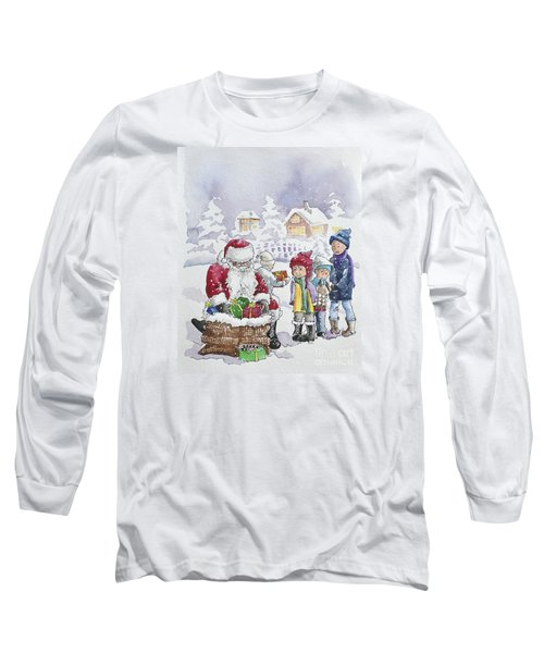 Santa And Children Long Sleeve T-Shirt