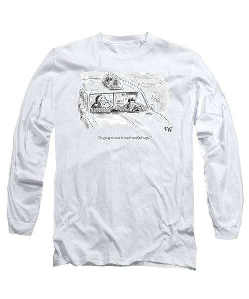 Santa In The Back Of A Cab Long Sleeve T-Shirt