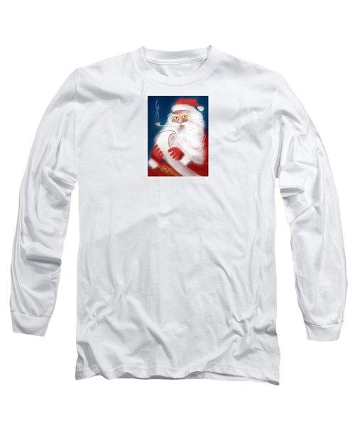Santa's List Long Sleeve T-Shirt by Jean Pacheco Ravinski