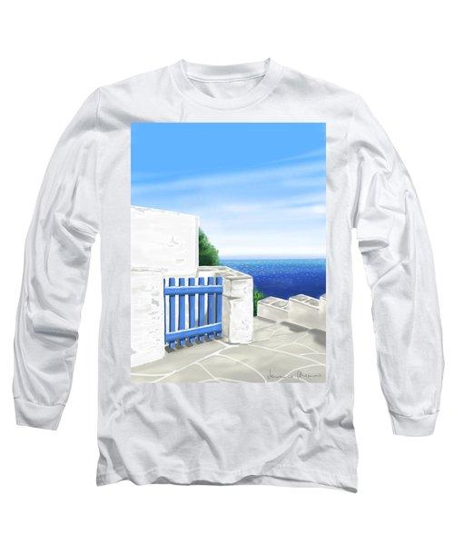 Santorini Long Sleeve T-Shirt by Veronica Minozzi