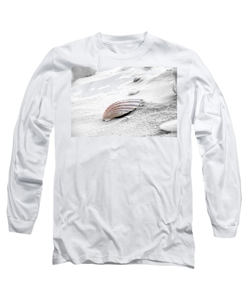 Long Sleeve T-Shirt featuring the photograph Scallop Shell by Robert Meanor