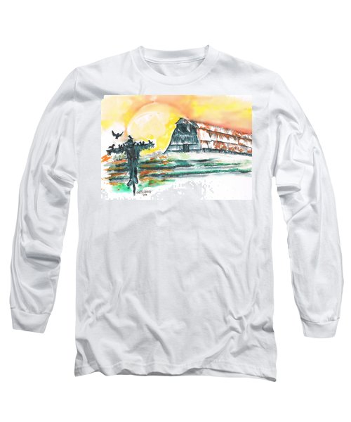 Scarecrow Welcomes The Morning Long Sleeve T-Shirt by Seth Weaver