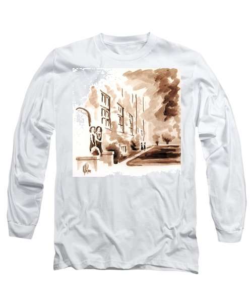 School Days At Ursuline Long Sleeve T-Shirt by Kip DeVore
