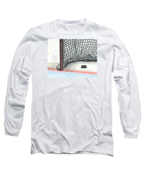 Long Sleeve T-Shirt featuring the drawing Score by Troy Levesque