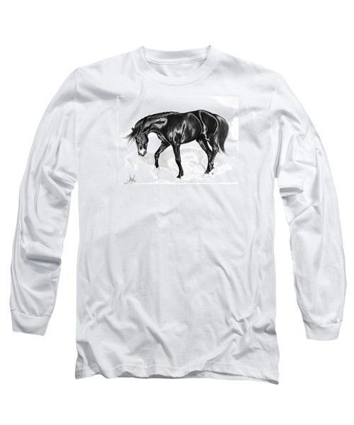 Scottish Gold - Registered Thoroughbred Long Sleeve T-Shirt by Cheryl Poland