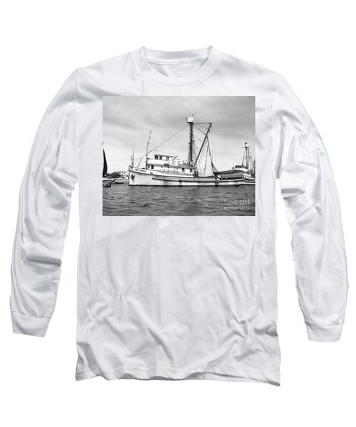 Purse Seiner Sea Queen Monterey Harbor California Fishing Boat Purse Seiner Long Sleeve T-Shirt