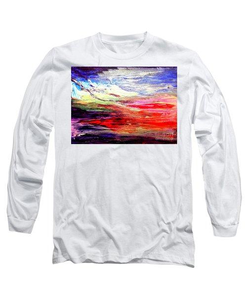 Sea Sky I Long Sleeve T-Shirt by Karen  Ferrand Carroll