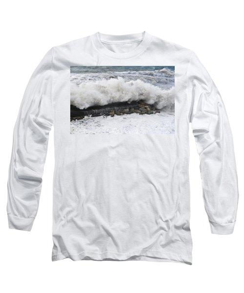 Sea Storm  Long Sleeve T-Shirt by Antonio Scarpi
