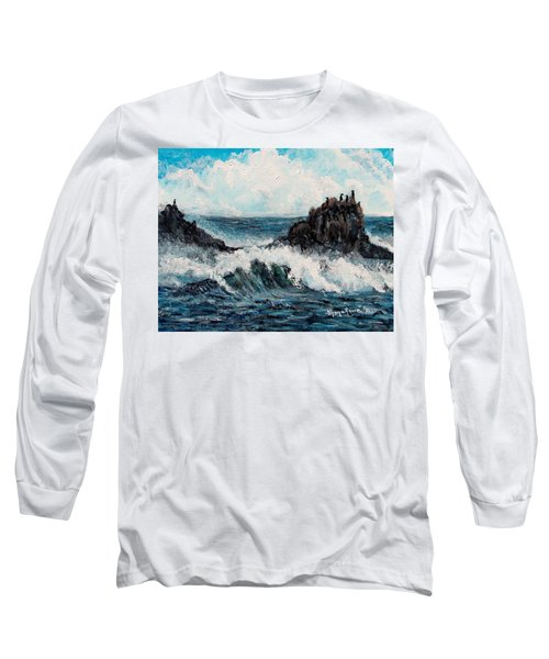 Long Sleeve T-Shirt featuring the painting Sea Whisper by Shana Rowe Jackson