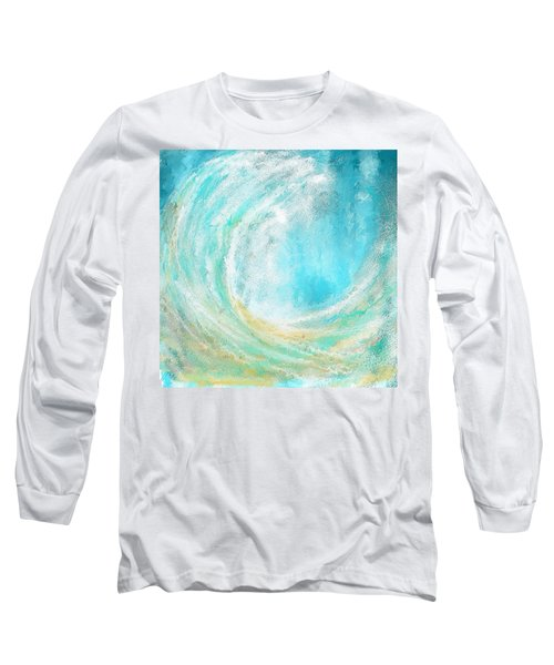 Seascapes Abstract Art - Mesmerized Long Sleeve T-Shirt