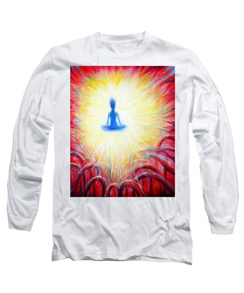 Long Sleeve T-Shirt featuring the painting Seat Of The Soul by Heather Calderon