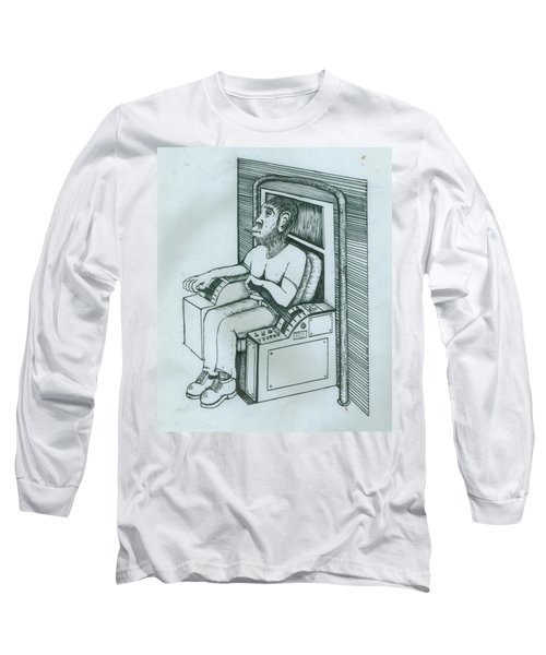 Seated Monkey Sketch Long Sleeve T-Shirt