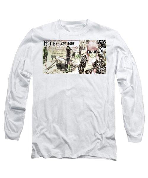 Seattle 1990's Long Sleeve T-Shirt by Joshua Morton