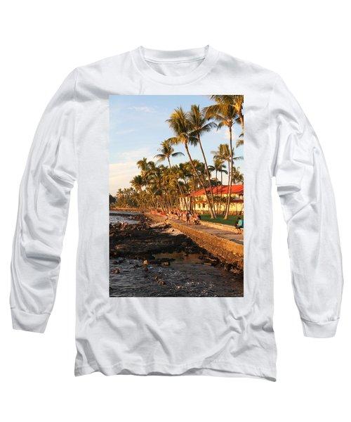 Seawall At Sunset Long Sleeve T-Shirt