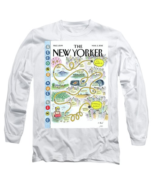 Second Avenue Line Long Sleeve T-Shirt