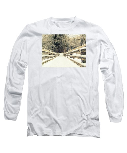 Sepia Winter Land Long Sleeve T-Shirt by France Laliberte