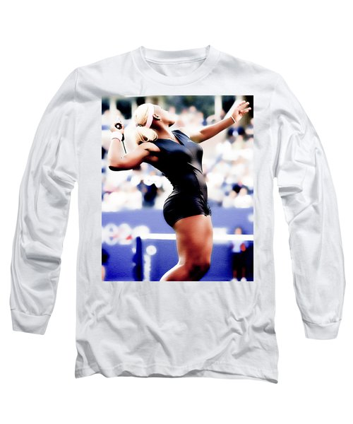 Serena Williams Catsuit Long Sleeve T-Shirt by Brian Reaves