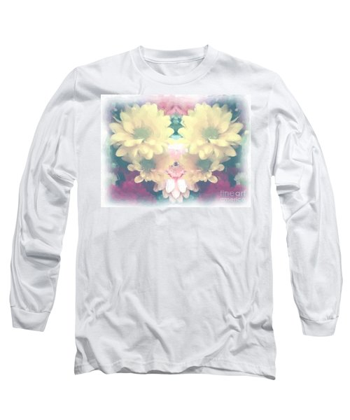 Long Sleeve T-Shirt featuring the photograph Serene Zinnias by Luther Fine Art