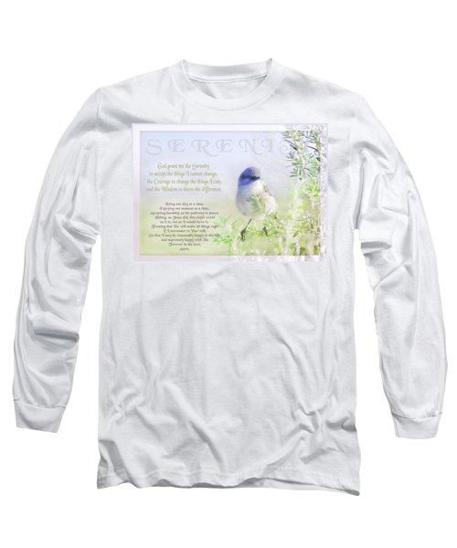 Serenity Prayer Long Sleeve T-Shirt by Holly Kempe