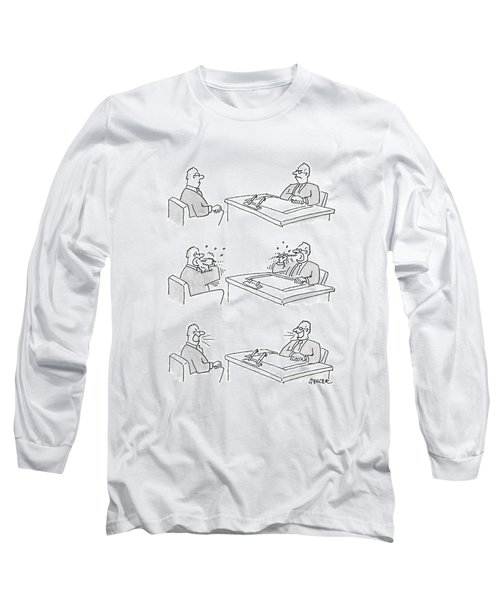 Series -- Two Men Scowl At Each Other Long Sleeve T-Shirt