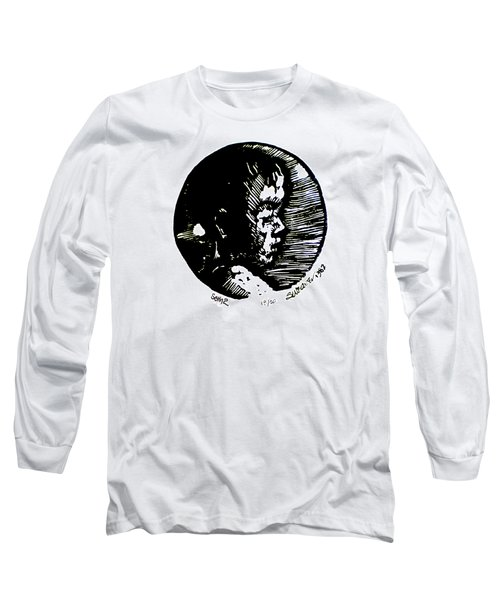 Long Sleeve T-Shirt featuring the relief Seth 2 by Seth Weaver
