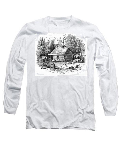 Settler's Log Cabin - 1878 Long Sleeve T-Shirt