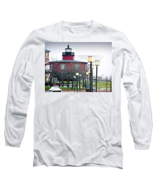Long Sleeve T-Shirt featuring the photograph Seven Foot Knoll Lighthouse by Brian Wallace