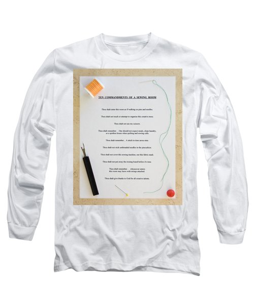 Sewing Room Sign Long Sleeve T-Shirt