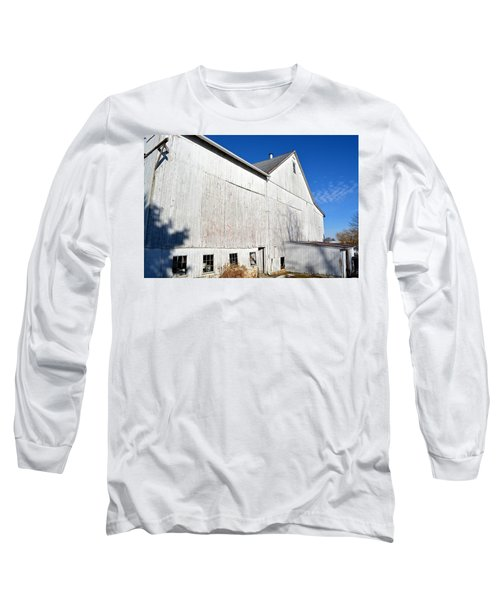 Shadow On White Barn Long Sleeve T-Shirt