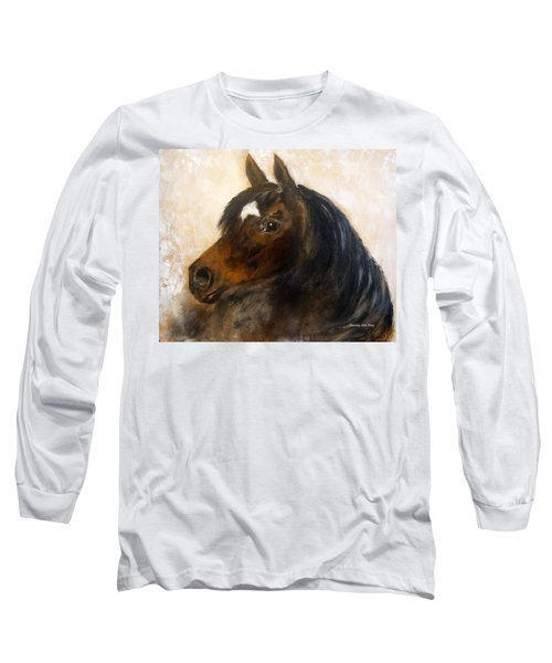 Long Sleeve T-Shirt featuring the painting Shadow by Barbie Batson