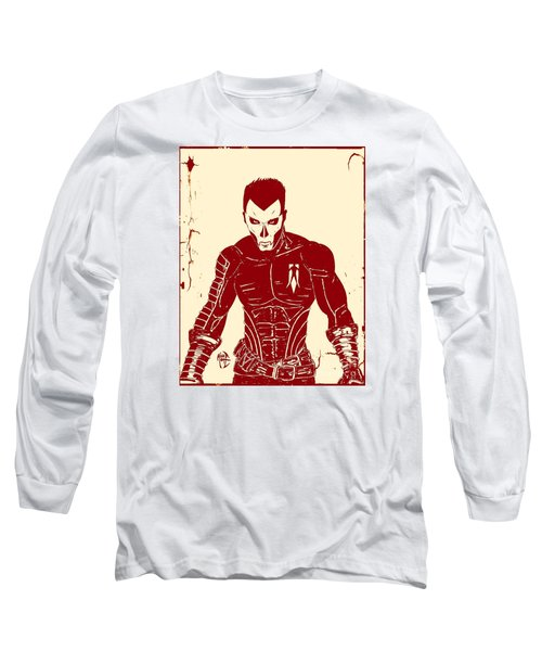 Shadowman Poster Long Sleeve T-Shirt by Justin Moore