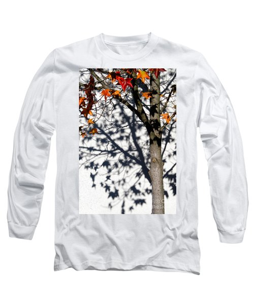 Shadows Of Fall Long Sleeve T-Shirt by CML Brown