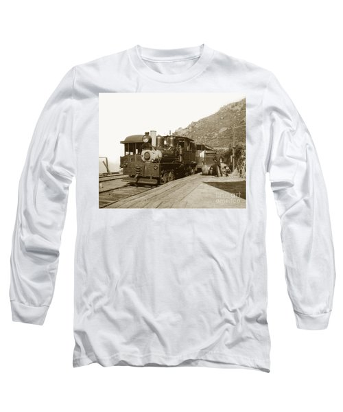 Long Sleeve T-Shirt featuring the photograph Shay No. 498 At The Summit Of Mt. Tamalpais Marin Co California Circa 1902 by California Views Mr Pat Hathaway Archives