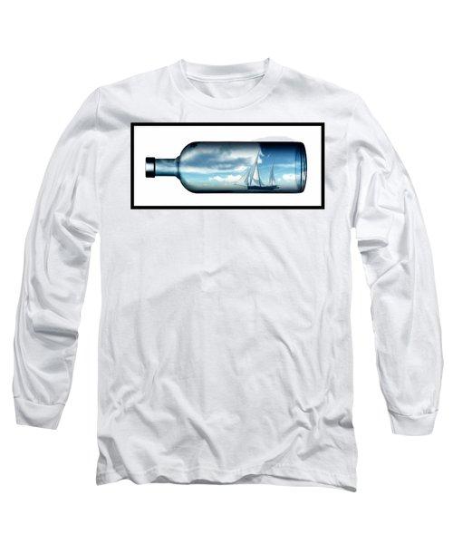 Long Sleeve T-Shirt featuring the digital art Ship In Bottle... by Tim Fillingim