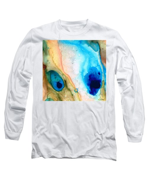 Shoreline - Abstract Art By Sharon Cummings Long Sleeve T-Shirt