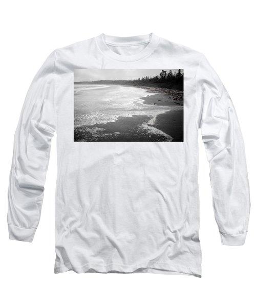 Winter At Wickaninnish Beach Long Sleeve T-Shirt by Roxy Hurtubise