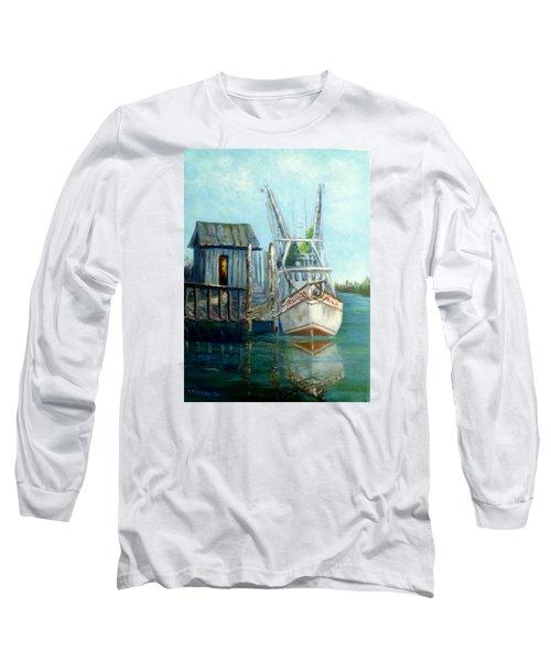 Shrimp Boat Paintings Long Sleeve T-Shirt