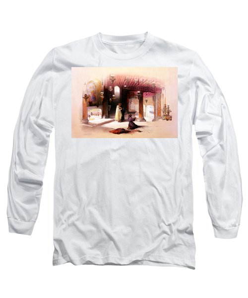 Shrine Of The Nativity Bethlehem April 6th 1839 Long Sleeve T-Shirt
