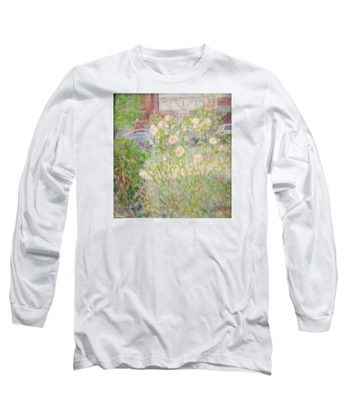 Sidewalk Flowers In Chicago Long Sleeve T-Shirt
