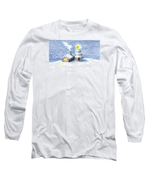 Long Sleeve T-Shirt featuring the drawing Silent Night by Keiko Katsuta