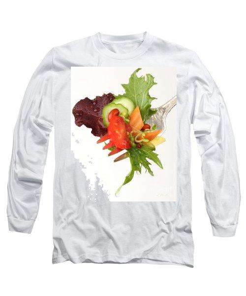 Silver Salad Fork Long Sleeve T-Shirt