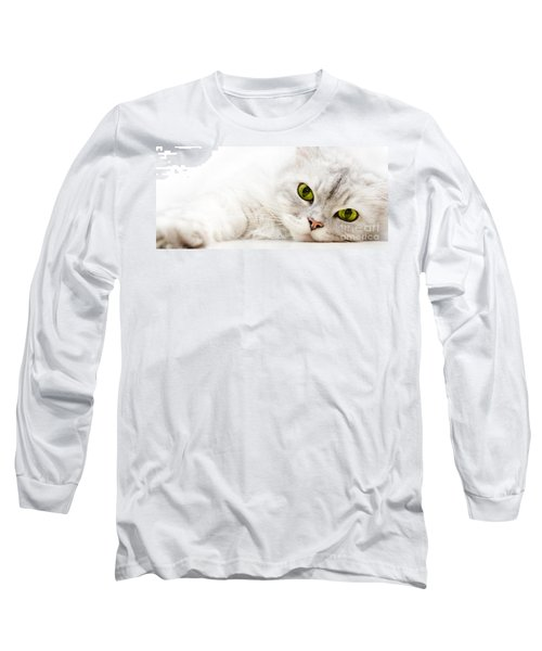 Long Sleeve T-Shirt featuring the photograph Silver Shaded Persian by Carsten Reisinger