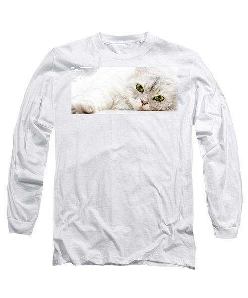 Silver Shaded Persian Long Sleeve T-Shirt